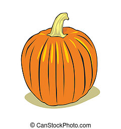 pumpkin - fully editable vector illustration pumpkin