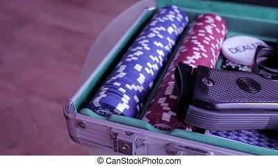 Poker case with gun