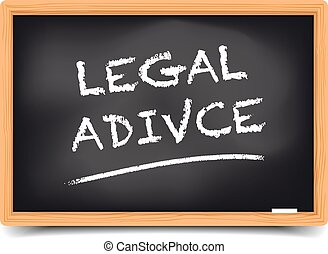 Blackboard Legal Advice - detailed illustration of a...