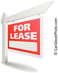 Real Estate For Lease - detailed illustration of a blank...