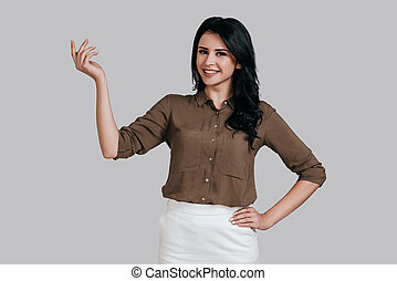 Young and successful. Beautiful young woman in smart casual...