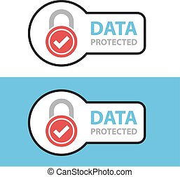 data protected safety icon symbol