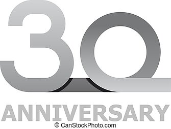 30 years anniversary number - illustration for the web