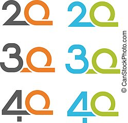 20 30 40 anniversary number - illustration for the web