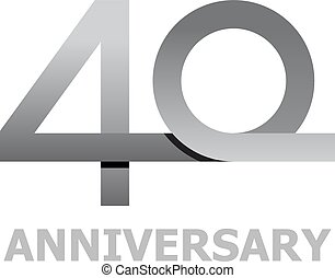 40 years anniversary number - illustration for the web