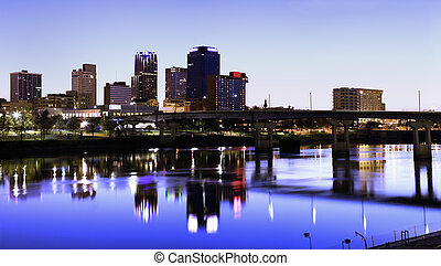 Evening in Little Rock, Arkansas