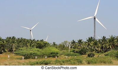 Energy alternatives 4. Wind farm in Indian province of...