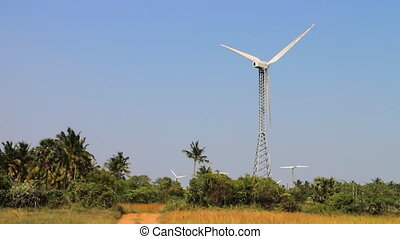 Energy alternatives 2. Wind farm in Indian province of...