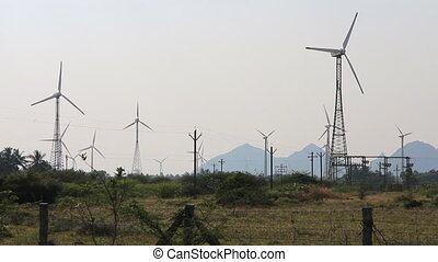 Energy alternatives 6. Wind farm in Indian province of Kerala.