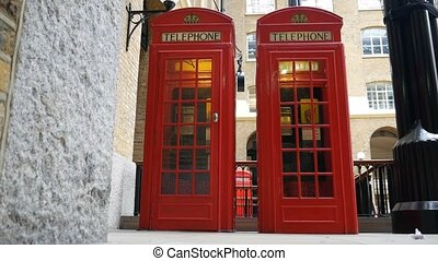 Red telephone box. - London. England. United Kingdom....