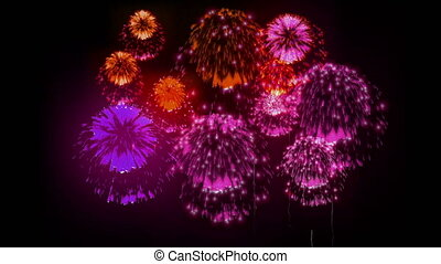 4K festival firework. many different versions. number 1. -...