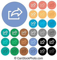 Export round flat multi colored icons - Export multi colored...