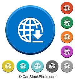Download from internet beveled buttons - Download from...