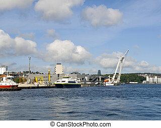 Stavanger Harbour - Stavanger port, serving international...