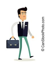 Office Worker Character Vector Illustration. - Office worker...