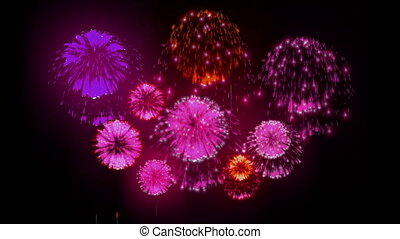4K festival firework. many different versions. number 5. -...