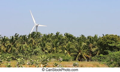 Energy alternatives 5. Wind farm in Indian province of...
