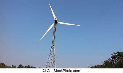 Energy alternatives. Wind plant, wind power - Alternative...