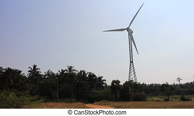Energy alternatives 3. Wind farm in Indian province of...