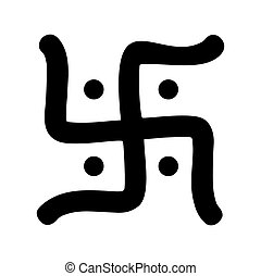 hindu swastika symbol - black hindu swastika religious...