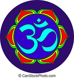 sonido,  Om, símbolo, sagrado