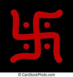 hindu swastika symbol - red hindu swastika religious symbol...