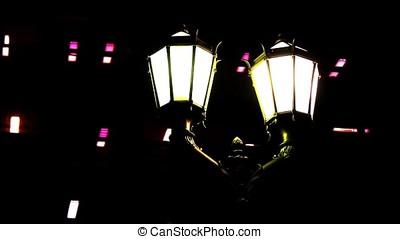 Old Street Lamps In La Boca - La Boca is a neighborhood, or...