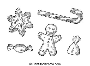 Gingerbread man and star