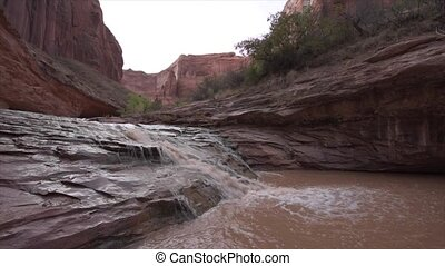 Small Waterfall in Coyote Gulch Grand Staircase Escalante...