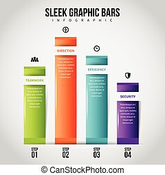 Sleek Graphic Bars Infographic - Vector infographic...
