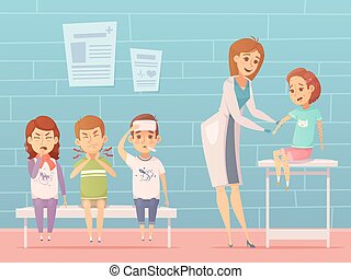 Children Visit Pediatrician Composition - Child diseases at...
