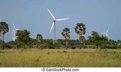 Energy alternatives. Wind farm in Indian. - Alternative...