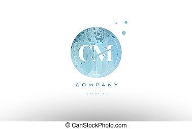 cm c m watercolor grunge vintage alphabet letter logo - cm c...