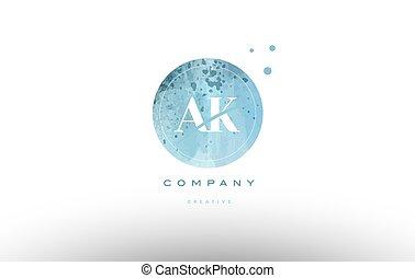ak a k watercolor grunge vintage alphabet letter logo - ak a...