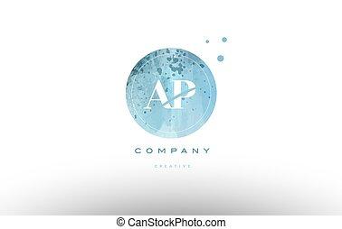 ap a p watercolor grunge vintage alphabet letter logo - ap a...