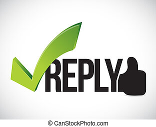 Reply approved concept illustration graphic isolated over...