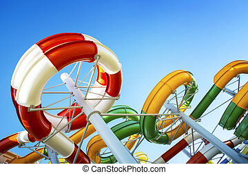 Water park with water flights - Water park with water...