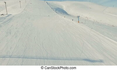 Young skier downhill.