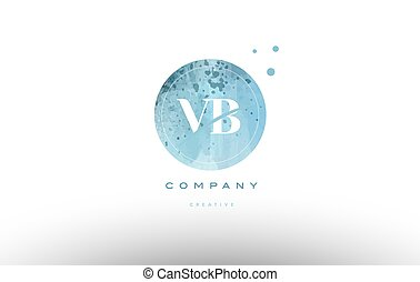 vb v b watercolor grunge vintage alphabet letter logo - vb v...
