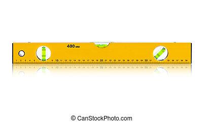 Construction level ruler isolated on white background