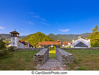 The medieval monastery Dobrun in Bosnia and Herzegovina -...