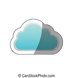 sticker cloud tridimensional in cumulus shape vector...