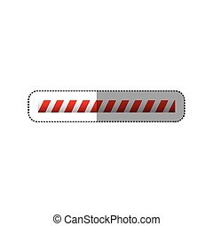 sticker barrier icon line caution sign vector illustration