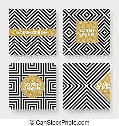 Set of abstract vector design