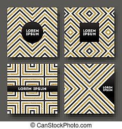 Set of abstract vector design,