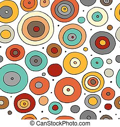 Funny circles colorful, seamless pattern for your design