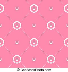 Pink pattern with crown - Pink pattern with white crown....