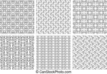Ornate backgrounds or vector floral patterns set in vintage...