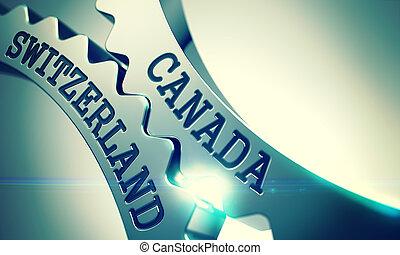 Canada Switzerland - Text on Mechanism of Metallic Cog...