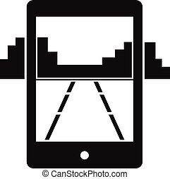 Mobile gaming icon, simple style